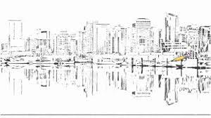 nyc city skylines single line drawings dibujos 1 drawings 1