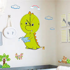diy creative cartoon wall clock with stickers for home diy creative cartoon wall clock with