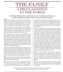 family proclamation the proclamation on the family a closer look stallion cornell
