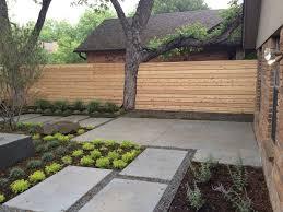 Backyard Fence Styles by Contemporary Backyard Landscapes Backyard Landscapes With Fence
