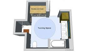 Floor Plans For Small Bathrooms Clear Floor Space U201d Guidelines For Accessible Bathrooms