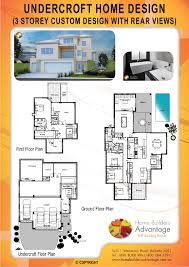 Custom Design Floor Plans Home Builders Advantage Rear View Undercroft Home Design