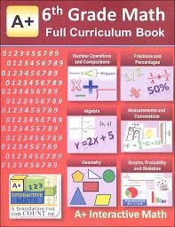 a interactive math 6th grade full curriculum textbook workbook