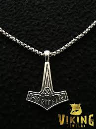 antique silver necklace chains images Antique silver thor 39 s hammer mjolnir charm pendant th005 jpg