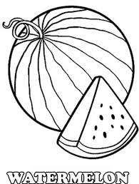 sweet free watermelon fruit coloring pages fruits coloring pages