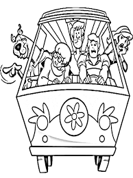kids printable scooby doo coloring pages