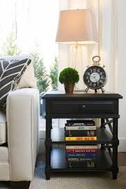 Decorating End Tables Living Room Best 25 Black Side Table Ideas On Pinterest Decorating End In