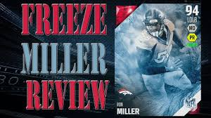 ultimate freeze von miller review player review madden 16