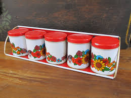 red kitchen canister sets amazon com certified international 3
