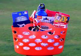 baseball gift basket baseball gift