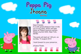 peppa pig birthday invitations templates ideas amazing