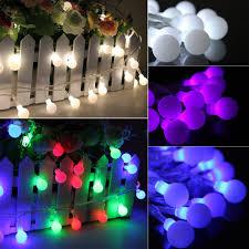 String Lights Balls by Aliexpress Com Buy New 10m 100 Bulbs Matte Globes Round Balls