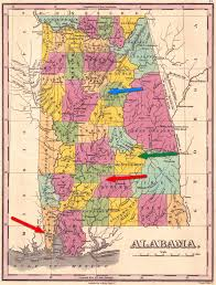 Map Alabama Loper Southern Stars Genealogy