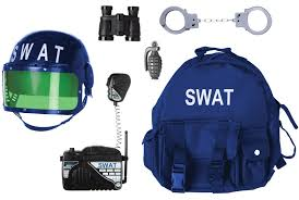 halloween police accessories gear to go swat adventure play set costume accessories official