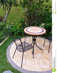 Outside Patio Chairs Outdoor Garden Patio Furniture Stock Image Image 5460721