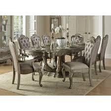 florentina 9 piece gold extendable dining room set bellaria