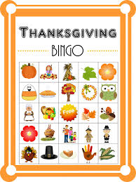 hello happy place free thanksgiving bingo with variations