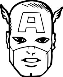 head clipart captain america pencil and in color head clipart
