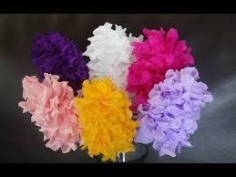 Making Flowers Out Of Tissue Paper For Kids - how to make easy paper flowers diy mother u0027s day craft youtube