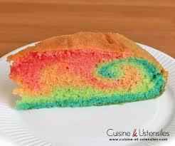 cuisine de gateau recette gâteau arc en ciel psychédélique le de cuisine et