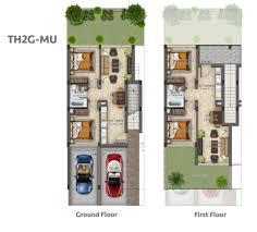 Floor Plan O2 Akoya Evo Townhomes By Damac Properties Akoya Oxygen Floor Plans