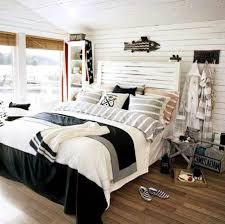 nautical bedroom ideas with fish wall art acessories and corner