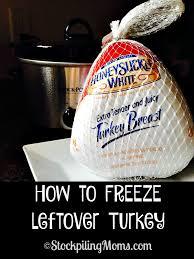 how to freeze leftover turkey