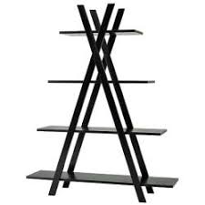 Tiered Bookshelves by 4 Tier Black X Shape Bookcase Free Shipping Today Overstock