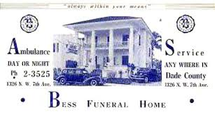 miami funeral homes 1940 s bess funeral home 1326 n w 7th avenue miami photo