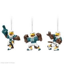 nfl philadelphia eagles swoop ornament collection