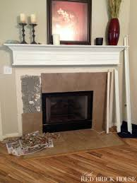 Remove Brick Fireplace by Fireplace Makeover Demo U0026 Pillar Construction Little Red Brick