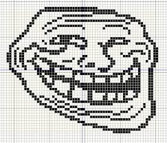 Cool Face Meme - buzy bobbins trollface coolface problem meme cross stitch design