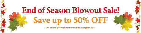 End Of Summer Patio Furniture Clearance Clearance Corner Green Acres Outdoor Living