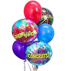 balloon delivery michigan congratulations balloon bouquet 6 mixed balloons an