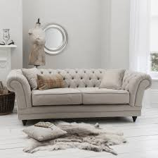 Tiffany Linen Buttoned Chesterfield Sofa Interior Pinterest - Chesterfield sofa uk