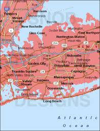 long beach ny county nassau county new york color map
