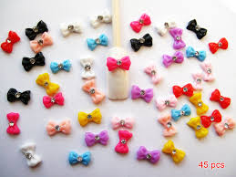 somethings about nail art rhinestone amazon com nail art 3d 45 pieces mix bow rhinestone for nails