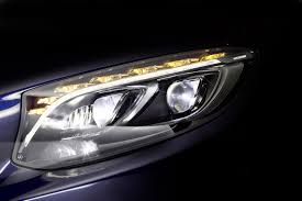 audi matrix headlights mercedes benz previews next gen headlight tech