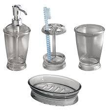 gray bathroom accessories amazon com