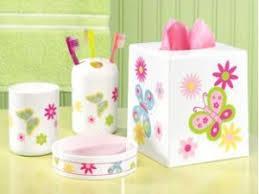 bathroom accessory set new 4 pc butterfly bathroom accessory set