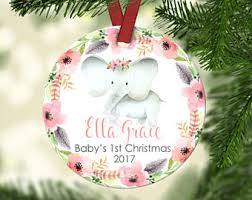 personalized christmas ornaments baby baby s christmas ornament etsy