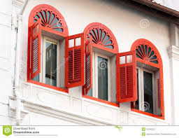 three open ornamental windows stock photo image 10336222