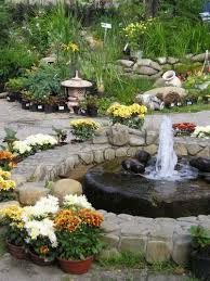 impressive water fountains outdoor gardens creative fireplace at