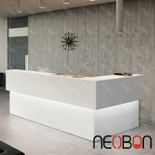White Salon Reception Desk Modern Beauty Salon Reception Desks Curved Reception Counter