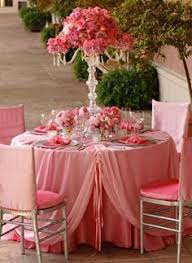 Pink Table L Table For Two Engagement Event Design Pink White And