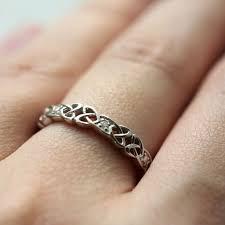 set ring silver celtic knot set ring