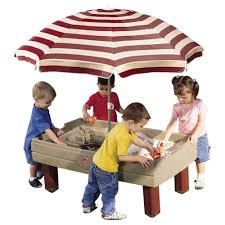 step 2 water table with umbrella step2 naturally playful sand and water activity center