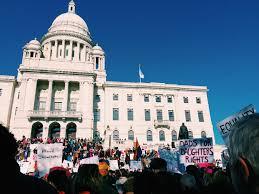 a millennial u0027s first political rally providence women u0027s march
