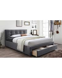 Upholstered Platform Bed King Great Deal On Baxton Studio Fabric Upholstered King Size