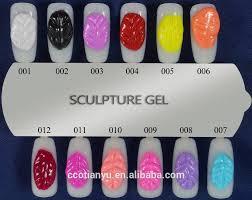 3d 4d carve gel for 3d nail art design nail polish nail sculpting